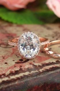 wedding photo - 27 Rose Gold Engagement Rings That Melt Your Heart