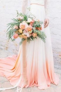 wedding photo - Bohemian Elegance In Ombré Peach And Coral