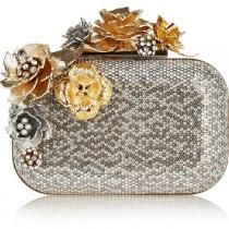wedding photo - Jimmy Choo Cloud Swarovski Crystal-embellished Metal Clutch