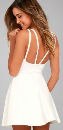 wedding photo - Love Galore White Skater Dress
