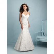 wedding photo - Allure Bridals 9210 Lace Fit and Flare Wedding Dress - Crazy Sale Bridal Dresses