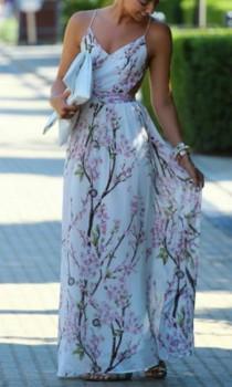 wedding photo - Cherry Blossom Maxi Dress