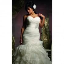 wedding photo - Ruffled Skirt Wedding Gown by Mori Lee - Color Your Classy Wardrobe