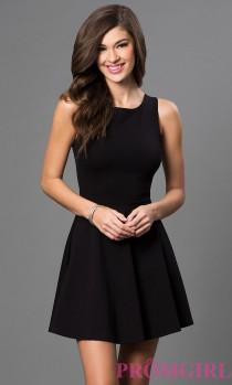 wedding photo - Sleeveless Little Black Dress With Cut Out Back