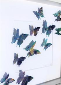 wedding photo - Butterfly painting. Each of Andrea Scacciotti's traces is a unique piece, resulting from a brillant concept and painstaking craft.