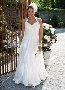 wedding photo - {Reader Request} 50's Halter Swing Wedding Dress