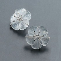 wedding photo - Russell Trusso Rock Crystal Earrings With Diamonds