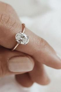 wedding photo - Your Heart Will Melt When You See These 24 Oval Engagement Rings