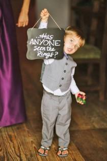 wedding photo - Ring Bearer & Flower Girl - Super Cute Wedding Guests