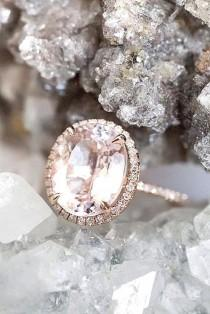 wedding photo - 27 Morganite Engagement Rings We Are Obsessed With