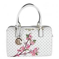 wedding photo - Nicole Lee Kayley White Floral Embellishment Boston Handbag By Nicole Lee