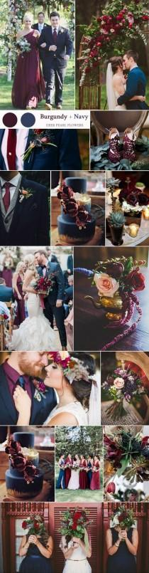 wedding photo - Top 8 Burgundy Wedding Color Palettes You'll Love