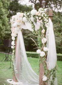 wedding photo - Stunning Floral Wedding Ceremony Arbor