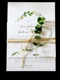 wedding photo - Wedding Invitation Green