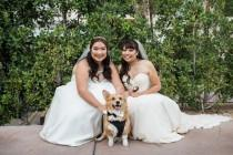 wedding photo - Modern Chinese Palm Springs Wedding: Valerie & Nicole