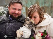 wedding photo - A delightful community-led queer winter wonderland wedding