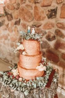 wedding photo - Rustic Rose Gold Wedding at Tuin van Eden by Aline Photography
