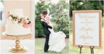 wedding photo - Elegant White and Gold Wedding with Handmade Details