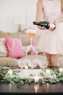 wedding photo - How To Create The Perfect Champagne Tower