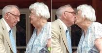 wedding photo - Grandpa Sweetly Serenades His Wife For Their 70th Wedding Anniversary