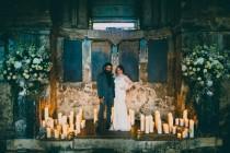 wedding photo - 'Til Death Do Us Part Themed Cabaret Wedding