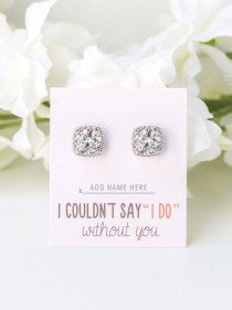 wedding photo - Bridesmaid Earrings, Bridesmaid Gift, Wedding Jewelry, Mother Of The Bride Gift, Gifts And Mementos, Swarovski Earrings E313S