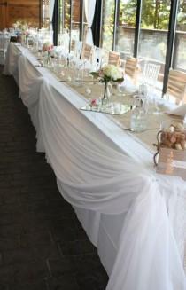wedding photo - Wedding Head Table Decorations