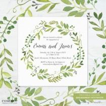 wedding photo - Greenery Wedding Invitations