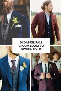wedding photo - 30 Dapper Fall Groom Looks To Swoon Over - Weddingomania