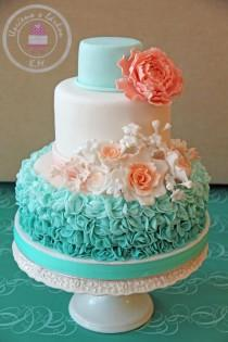 wedding photo - Mint & Peach Wedding