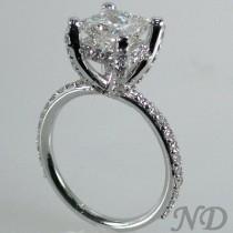 wedding photo - 2.57ct. Pave Set  Diamond  Engagement  Ring