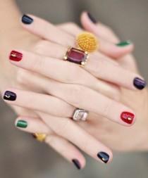 wedding photo - Multi-colored Nails 美甲…_来自天下向阳的图片分享-堆糖网