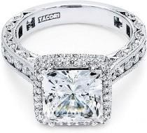 wedding photo - Tacori RoyalT Princess Cut Halo Diamond Engagement Ring