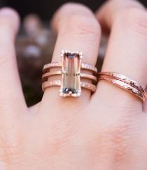 wedding photo - Watermelon Diamond Ring