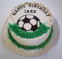 wedding photo - Soccer Birthday Cake