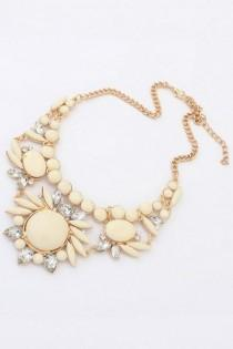 wedding photo - Nice Faux Stone Bib Necklace - OASAP.com