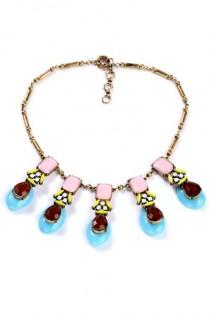 wedding photo - Patel Hue Colorblocked Faux Stone Necklace - OASAP.com