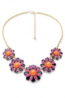 wedding photo - Elegant Floral Bib Necklace - OASAP.com