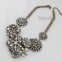 wedding photo - Auth - Flower Lattice Necklace Breathtaking Bloom Necklace - With Tag