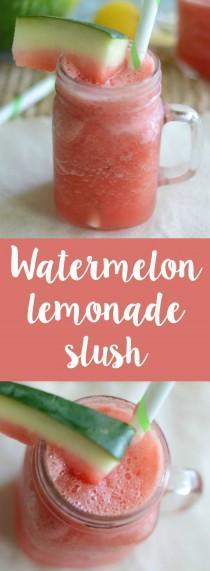 wedding photo - Watermelon Lemonade Slushies