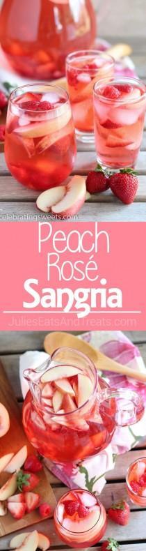 wedding photo - Peach Rosé Sangria