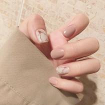 wedding photo - Marble and Nude Nails