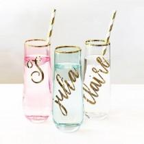wedding photo - Personalized Stemless Glasses