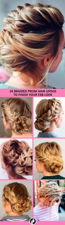 wedding photo - 30 Braided Prom Hair Updos To Finish Your Fab Look