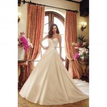 wedding photo - Style Y11721 by Sophia Tolli - Ivory  White Satin Detachable Straps Floor Sweetheart  Strapless Wedding Dresses - Bridesmaid Dress Online Shop
