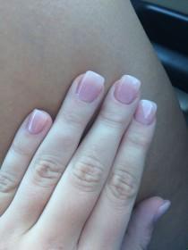 wedding photo - Pink & Glitter Nails