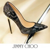 wedding photo - Lust Worthy Shoe - Jimmy Choo Abel Studded Flocked Pump