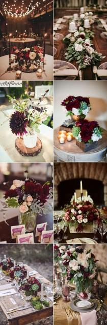 wedding photo - 50  Refined Burgundy And Marsala Wedding Ideas For Fall Brides