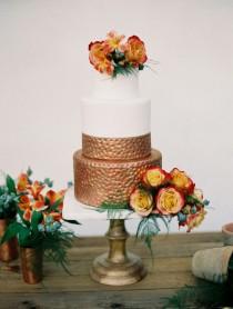 wedding photo - Copper Wedding Cake
