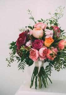 wedding photo - The Prettiest Rose Wedding Bouquets For Every Season